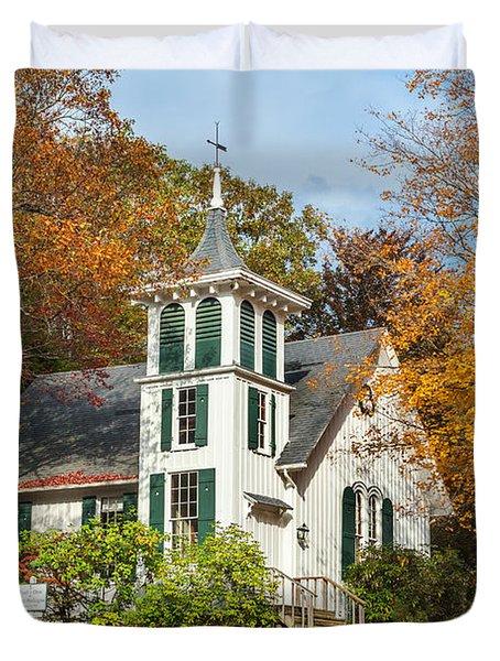Autumn Church Duvet Cover by Bill  Wakeley