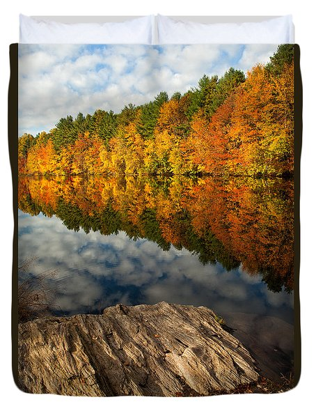 Autumn Day Duvet Cover by Karol  Livote