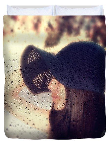 autumn dream Duvet Cover by Stylianos Kleanthous