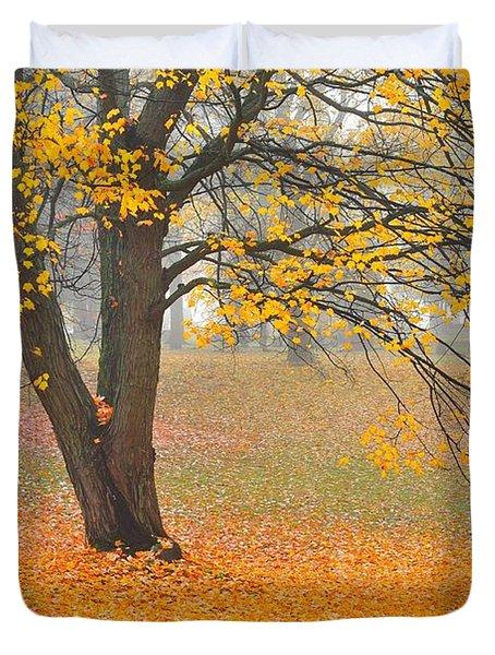 Autumn Fallen Duvet Cover by Terri Gostola