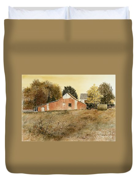 Autumn Glow Duvet Cover by Monte Toon