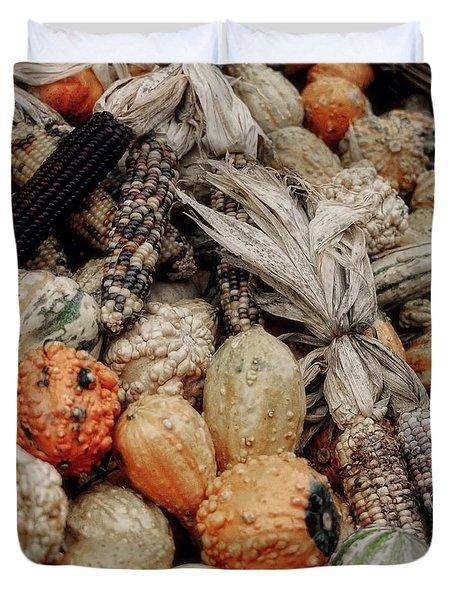 Autumn Gourds 2 Duvet Cover by Joann Vitali
