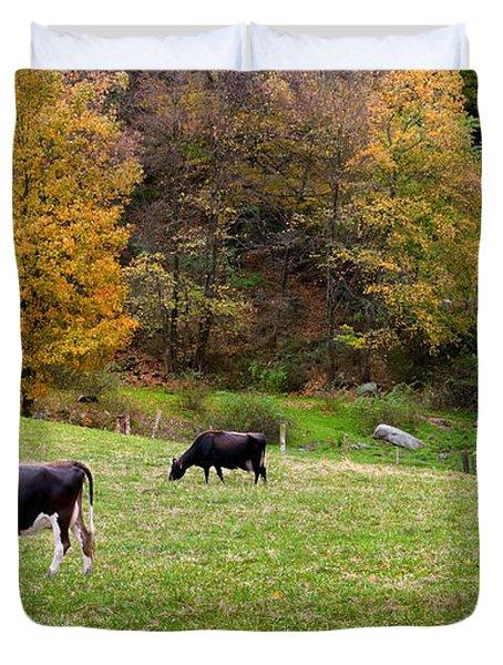 Autumn Graze Duvet Cover by Bill  Wakeley