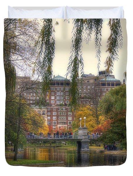 Autumn in Boston Garden Duvet Cover by Joann Vitali