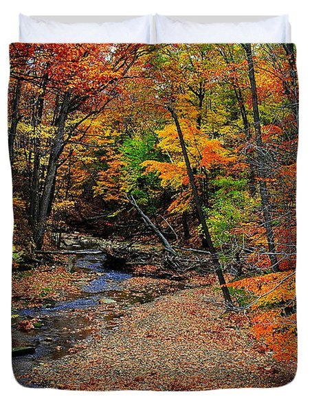 Autumn In Full Bloom Duvet Cover by Frozen in Time Fine Art Photography