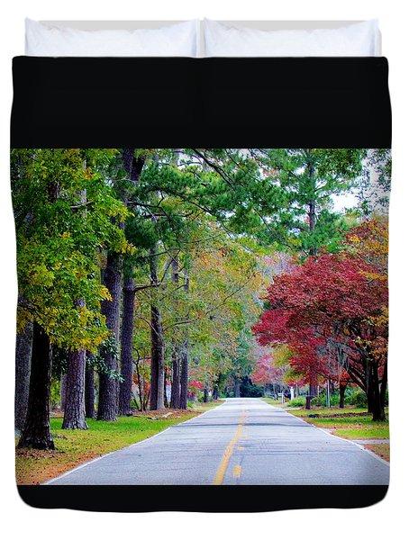 Autumn In The Air Duvet Cover by Cynthia Guinn