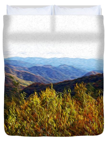 Autumn In The Smokey Mountains Duvet Cover by Phil Perkins