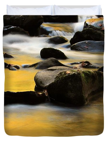 Autumn In The Water Duvet Cover by Dan Sproul