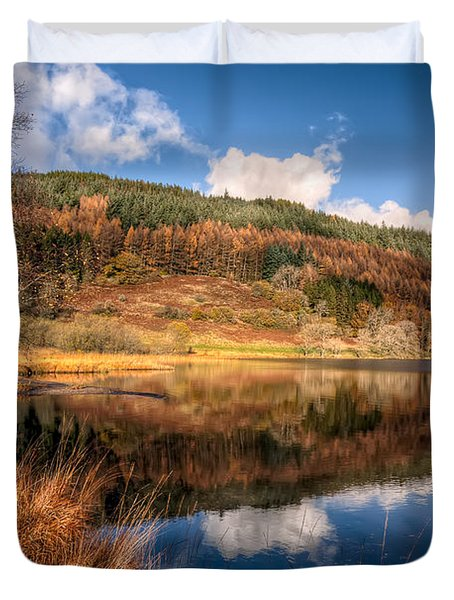 Autumn In Wales Duvet Cover by Adrian Evans