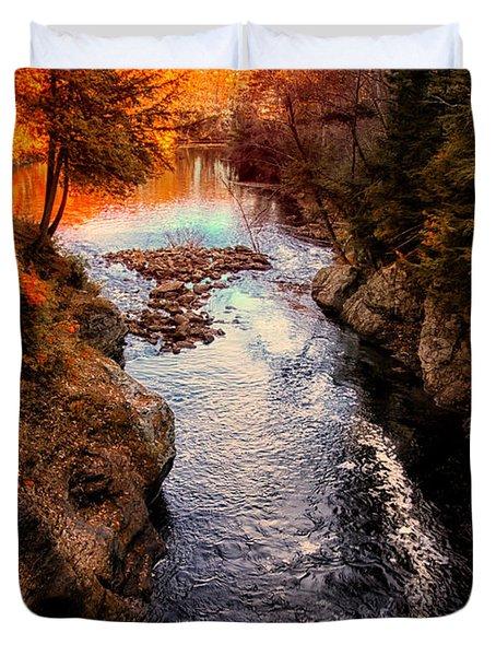 Autumn In West Paris Duvet Cover by Bob Orsillo