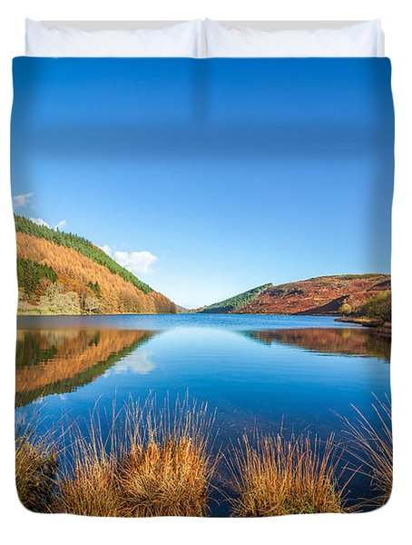 Autumn Lake Duvet Cover by Adrian Evans