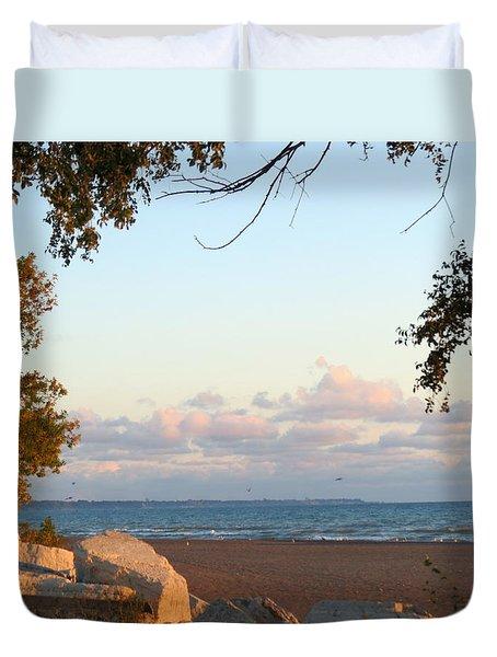 Autumn Lakeside Duvet Cover by Kay Novy