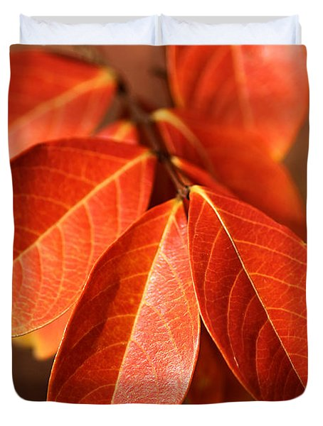 Autumn Leaves Duvet Cover by Joy Watson