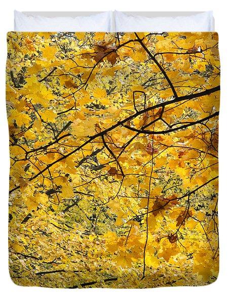 Autumn Leaves Duvet Cover by Michal Boubin