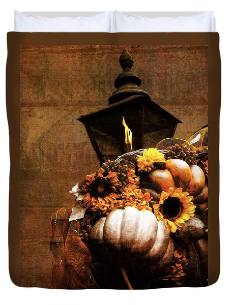 Autumn Light Post Duvet Cover by Dan Sproul