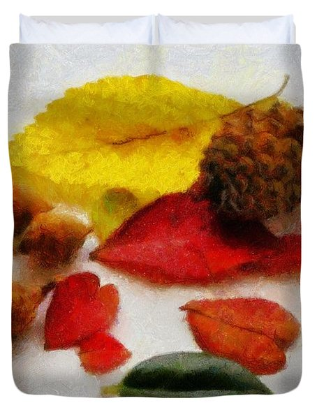 Autumn Medley Duvet Cover by Jeff Kolker