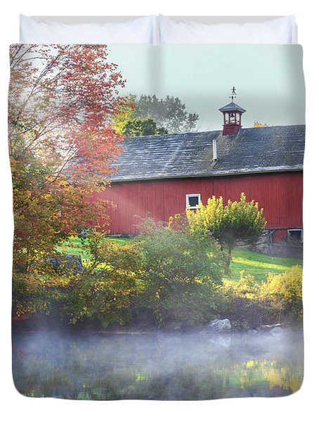 Autumn Morn Duvet Cover by Bill  Wakeley
