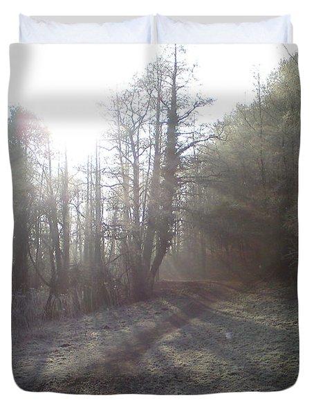 Autumn Morning 3 Duvet Cover by David Stribbling