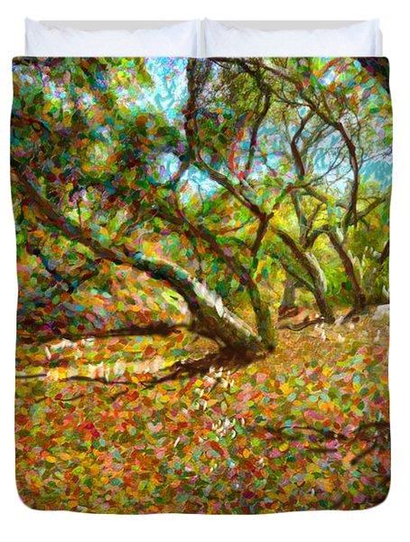 Autumn Oak Forest Duvet Cover by Angela A Stanton