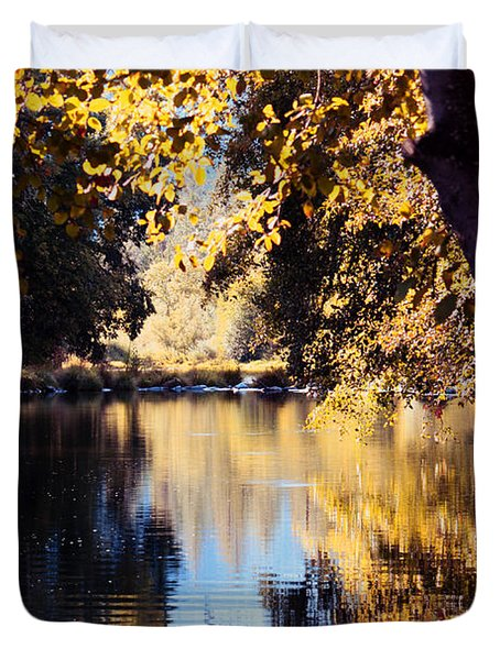 Autumn On The Applegate Duvet Cover by Melanie Lankford Photography