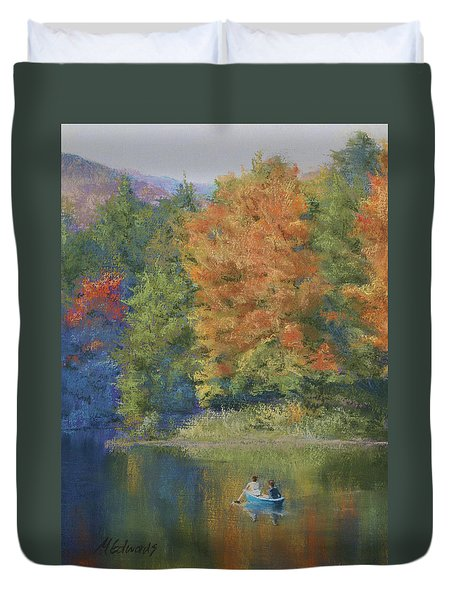 Autumn On The Lake Duvet Cover by Marna Edwards Flavell