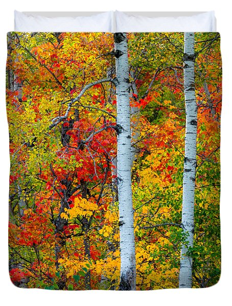 Autumn Palette Duvet Cover by Mary Amerman