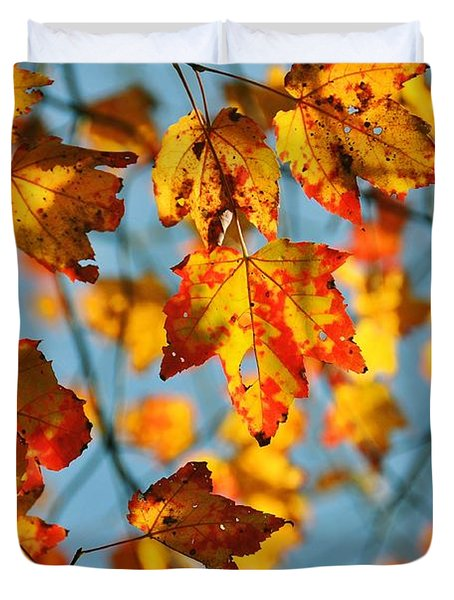 Autumn Petals Duvet Cover by JAMART Photography