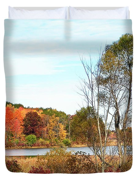 Autumn Pond Duvet Cover by Aimee L Maher Photography and Art Visit ALMGallerydotcom