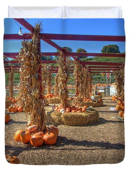 AUtumn Pumpkin Patch Duvet Cover by Joann Vitali