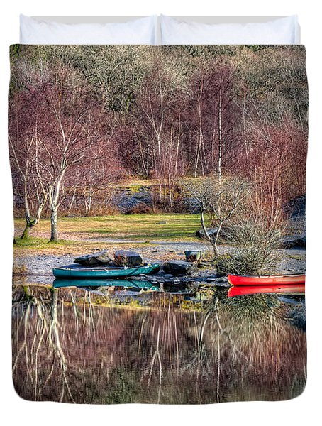 Autumn Reflections Duvet Cover by Adrian Evans