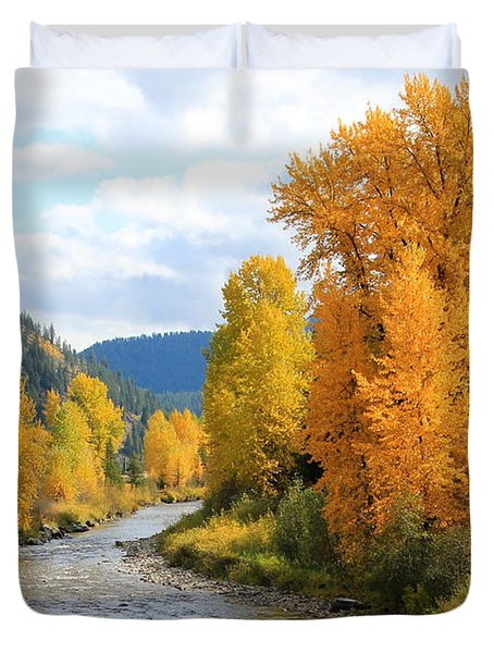 Autumn River Duvet Cover by Athena Mckinzie