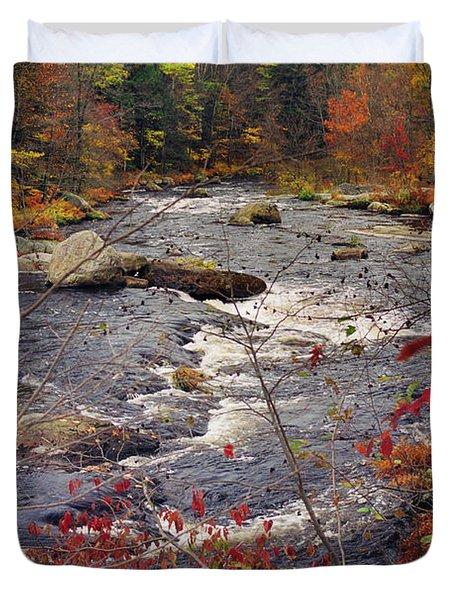 Autumn River Duvet Cover by Joann Vitali