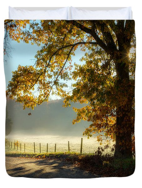 Autumn Road Duvet Cover by Bill  Wakeley