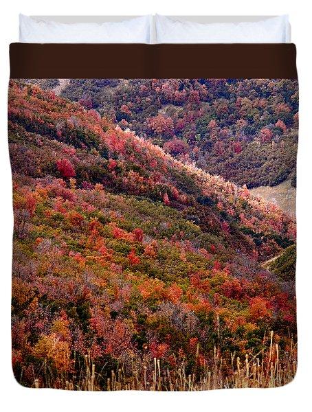 Autumn Duvet Cover by Rona Black