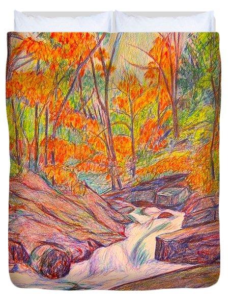 Autumn Rush Duvet Cover by Kendall Kessler