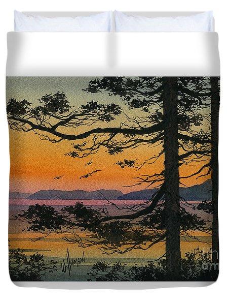 Autumn Shore Duvet Cover by James Williamson