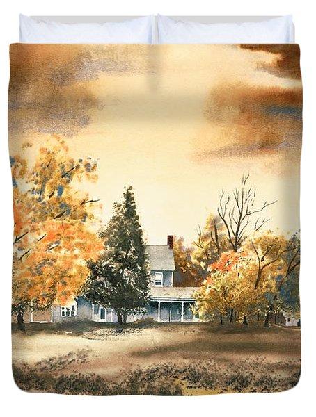 Autumn Sky No W103 Duvet Cover by Kip DeVore