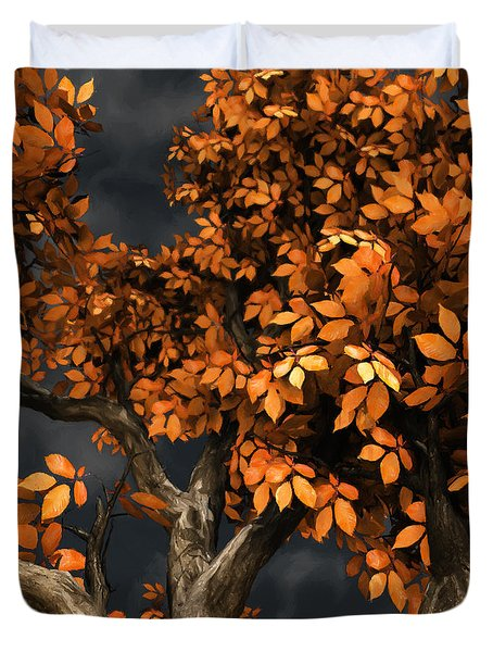 Autumn Storm Duvet Cover by Cynthia Decker