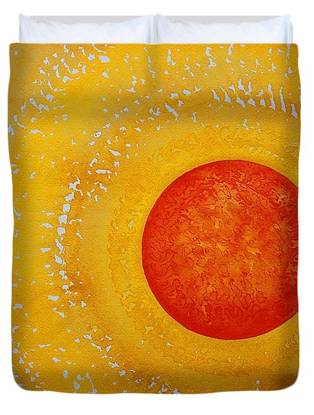 Autumn Sun Original Painting Duvet Cover by Sol Luckman
