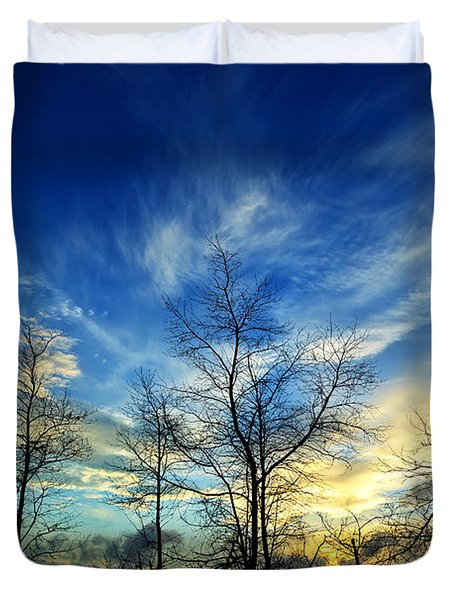 Autumn Sunset Duvet Cover by Bill Caldwell -        ABeautifulSky Photography