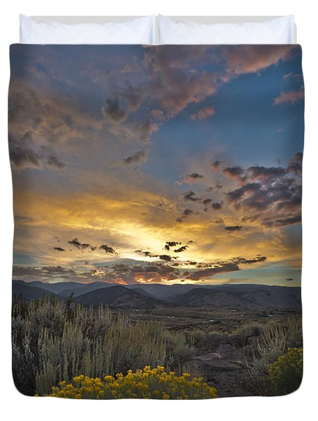 Autumn Sunset Duvet Cover by Dianne Phelps