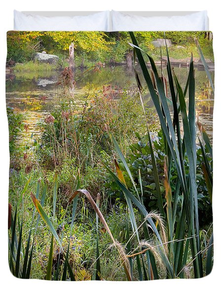 Autumn Swamp Duvet Cover by Bill  Wakeley