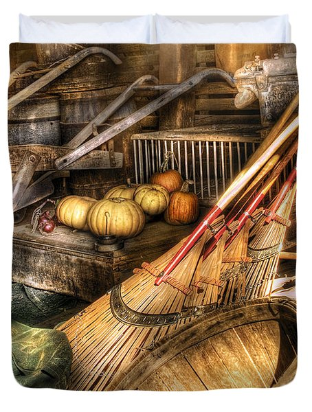 Autumn - This years harvest Duvet Cover by Mike Savad