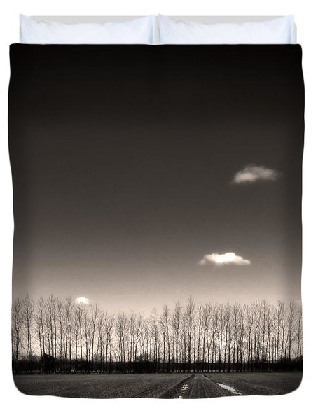 autumn trees Duvet Cover by Stylianos Kleanthous