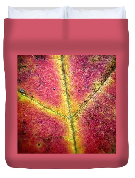 Autumnal Intricacy Duvet Cover by Natasha Marco