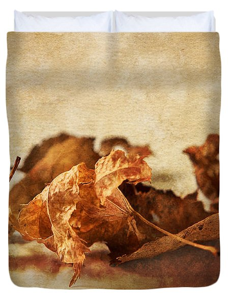 Autumn's Leavings Duvet Cover by Caitlyn  Grasso