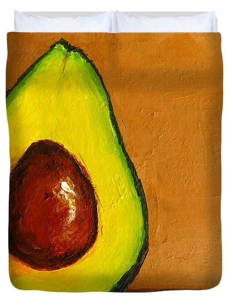 Avocado Palta Vi Duvet Cover by Patricia Awapara