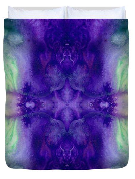 Awakening Spirit - Pattern Art By Sharon Cummings Duvet Cover by Sharon Cummings