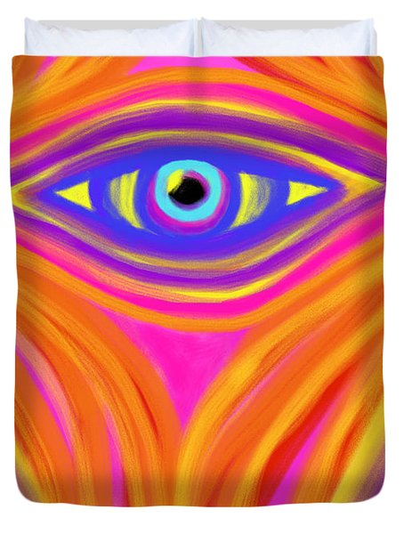 Awakening the Desert Eye Duvet Cover by Daina White