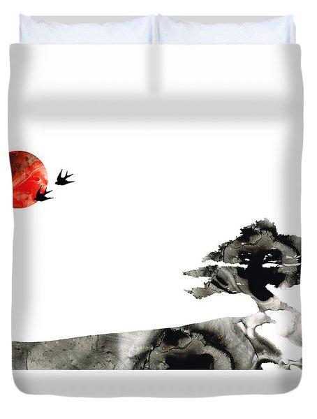 Awakening - Zen Landscape Art Duvet Cover by Sharon Cummings
